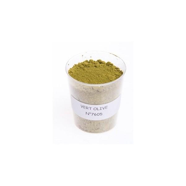 Pigment vert olive le moulin couleurs terres colorantes pigments naturels ocres et pigments - Peinture vert olive ...