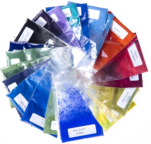 échantillons couleurs minérales